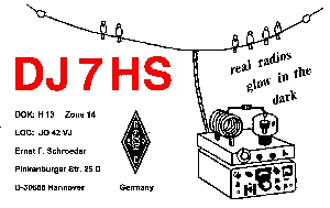QSL card of Ernst, DJ7HS