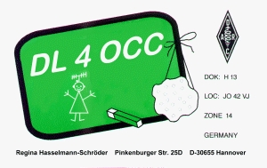 QSL card of Regina, DL4OCC